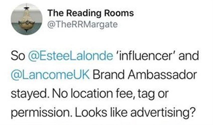 The Reading Rooms - tweet