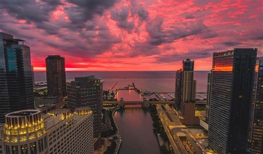 Chicago sunrise