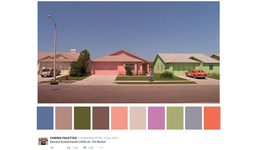 Creative Twitter account - cinema pallette