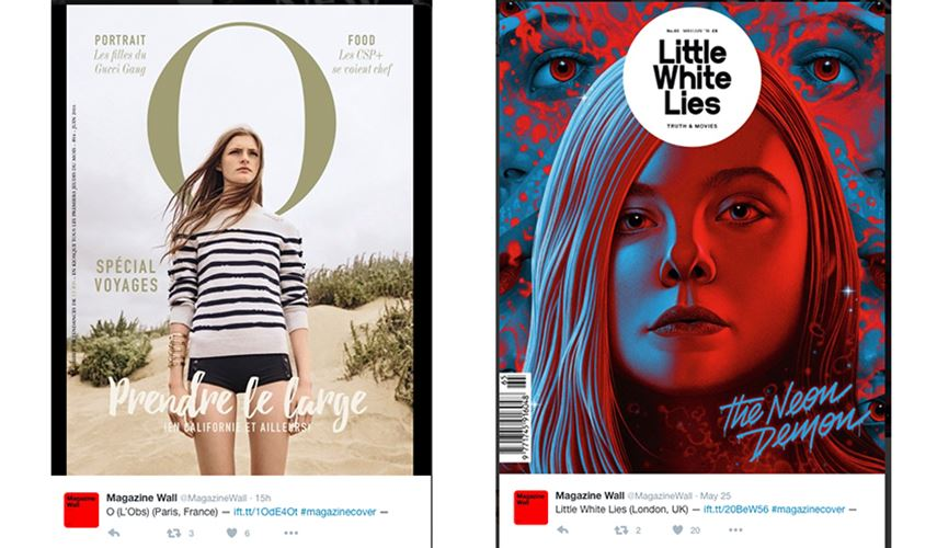 Creative Twitter account - Magazine Wall