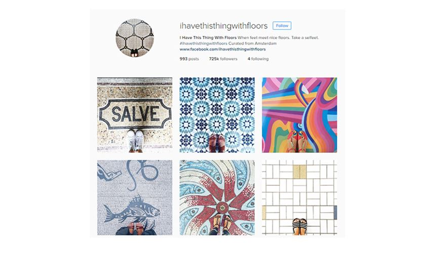 I Have This Thing With Floors - Creative Instagram