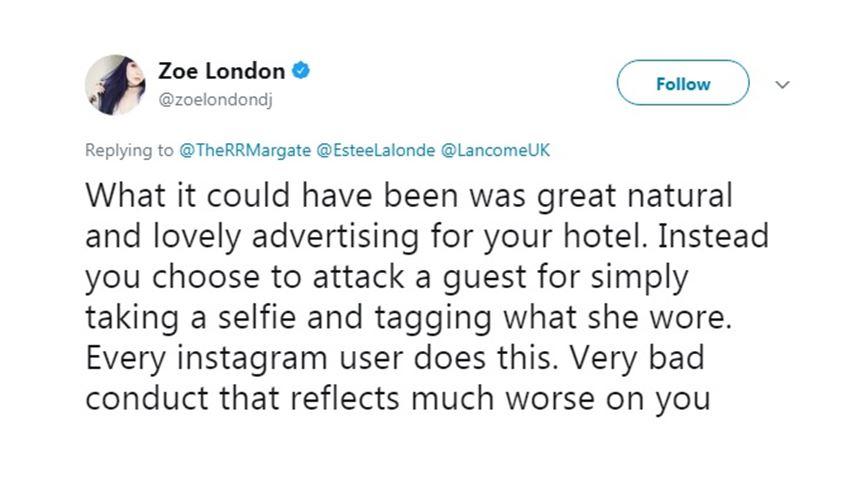 Zoe London - tweet