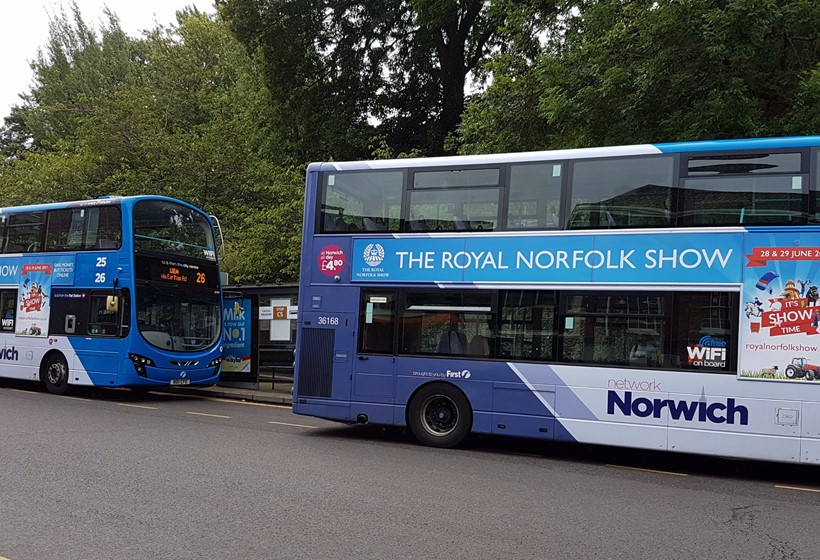 Royal Norfolk Show Case Study - Bus Side