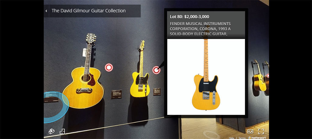 The David Gilmore guitar collection