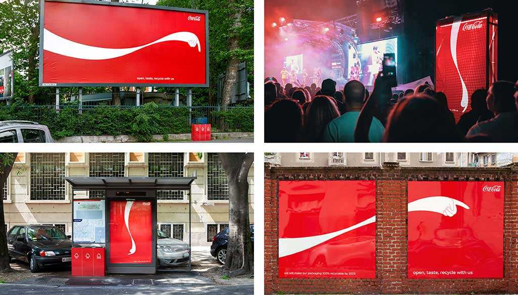 Coca Cola recycling campaign