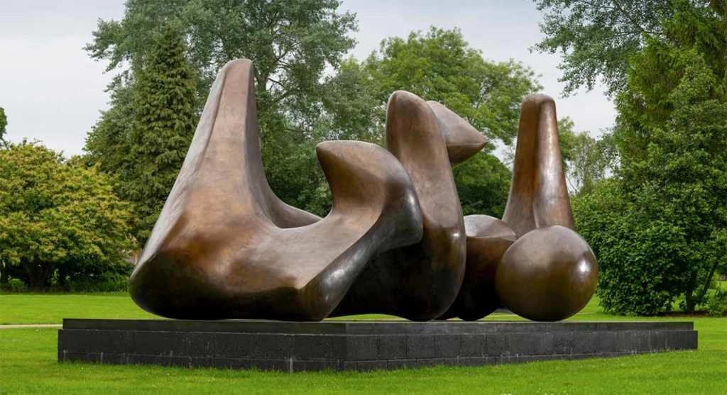 Henry Moore outside sculpture