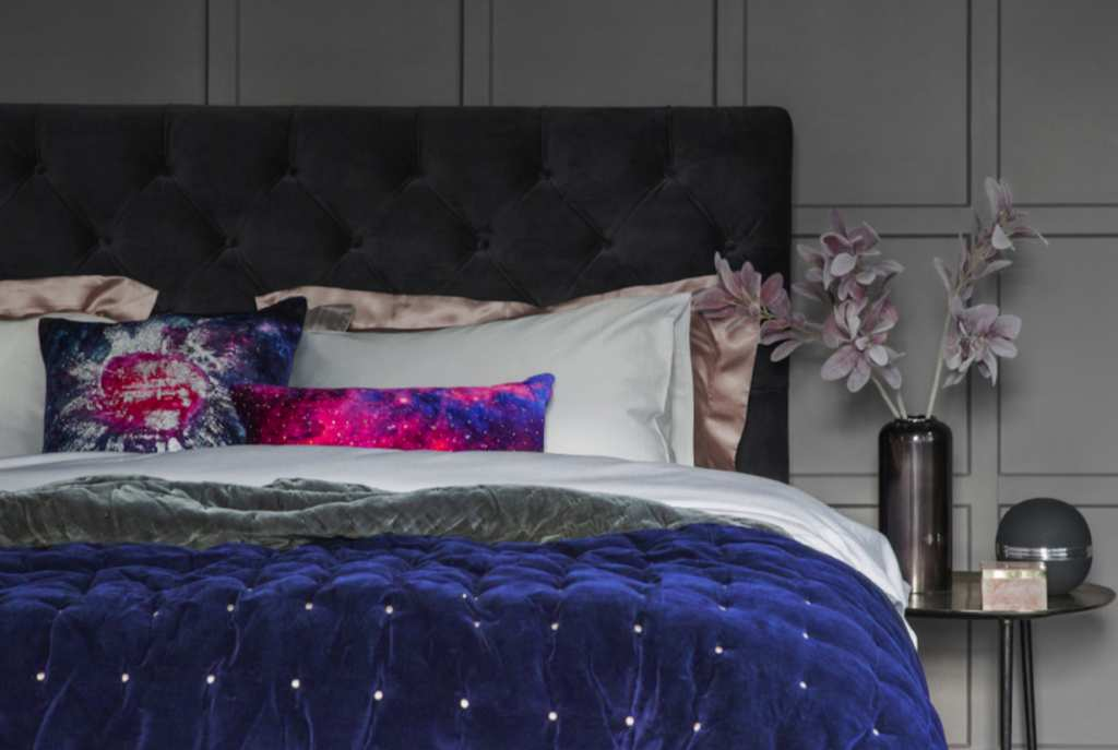 Interior shot of a double bed