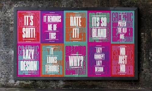 Bold custom typography